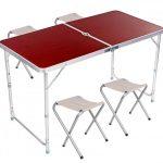 Стол для пикника Folding Table усиленный с 4 стульями